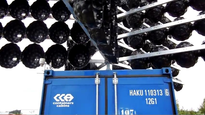 Harkink Wind Energy ветрогенератор в передвижном контейнере